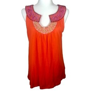 Anthropologie Meadow Rue Orange Top- L